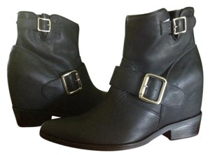Jeffrey Campbell Wedge Black Leather Black Calf Boots