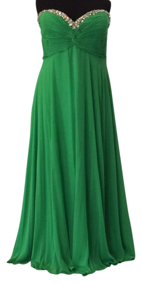 652b51d3ec6 Night Moves Prom Collection Green 7135w Long Formal Dress Size 28 ...