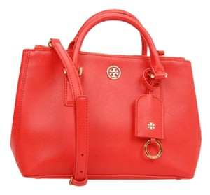 Tory Burch Tote Robinson Double Zip Tote Tb Satchel in red