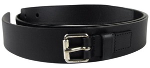 Gucci Black Leather Belt with Square buckle 110/44 341747 1000 bgh0n