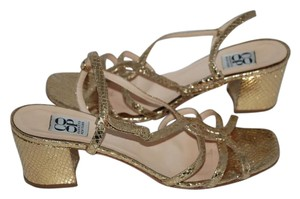 Barneys New York gold Sandals
