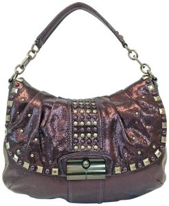 Coach Limited Studded Flap Chain Hobo Bag