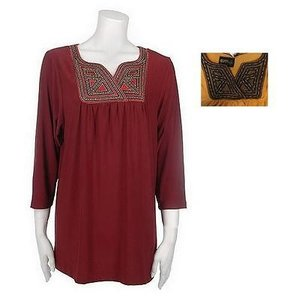 Bob Mackie Embroidered Bib Tunic