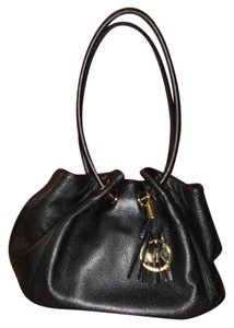 Michael Kors Leather Drawstring Tote in Black