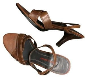 Naturalizer Tan Leather Sandals