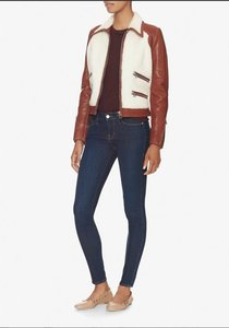 Barbara Bui Shearling Leather brown Leather Jacket