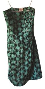 Plenty by Tracy Reese short dress Cool green with black eyelets, nude bodice on Tradesy