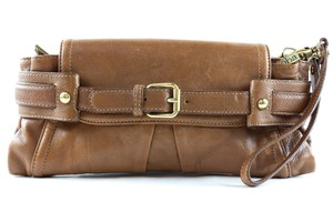 Kooba Pouchette Leather Wristlet in Brown
