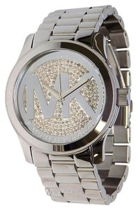 Michael Kors NEW WOMENS MICHAEL KORS (MK5544) SILVER TONE RUNWAY GLITZ DIAL WATCH