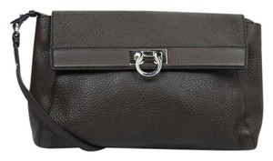 Salvatore Ferragamo Gancini Crossbody Leather Shoulder Bag