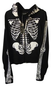 Living Dead Souls Costume Hoodie Skeleton Skelton Face Skeleton Arms Jacket