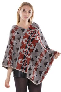 JTC FREE SHIPPING Winter Reversible Oversized Blanket Poncho JP416