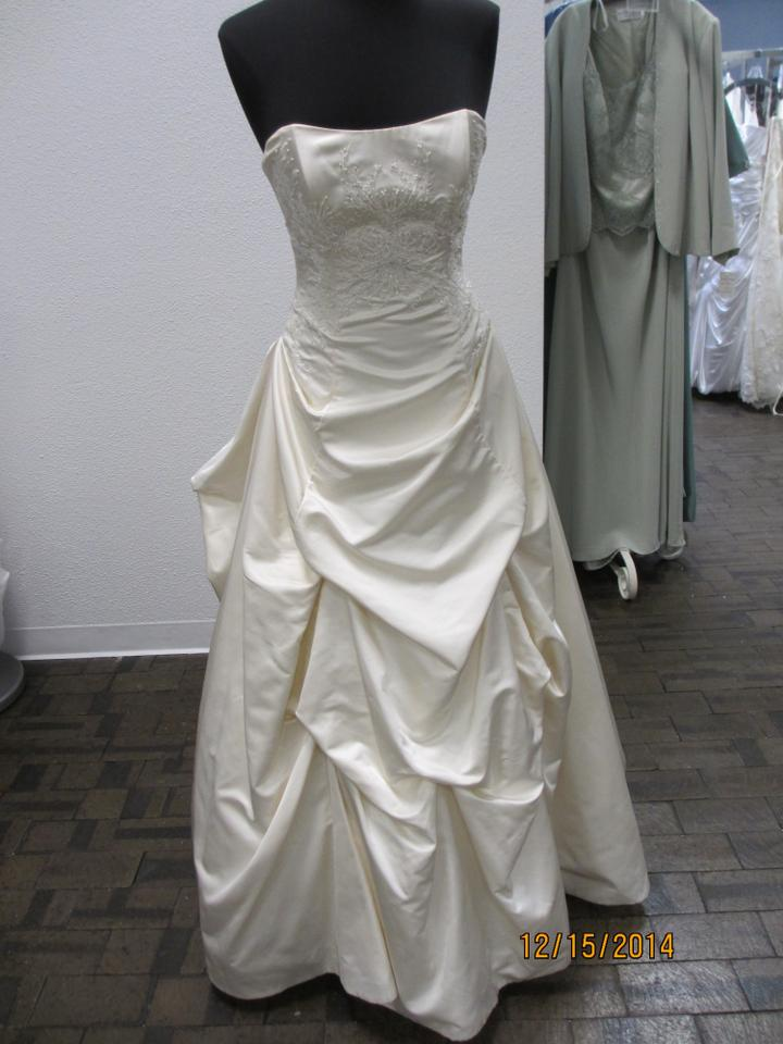 Marisa Bridal Ivory Silk 744 - - Strapless (105l) Formal Wedding ...
