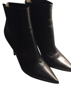 Jimmy Choo Stiletto Leather Zip Back Black Boots