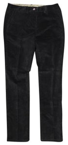 Boden Velvet Leg Mid-rise Tall Straight Pants Black