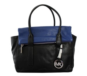 Michael Kors Satchel in Black and Sapphire