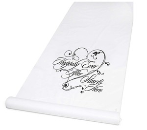 Wedding Happily Ever After Aisle Runner Durable White Aisle Runner For Outdoor Wedding Aisle Runner