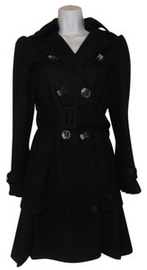 bebe Wool Long Trench Coat