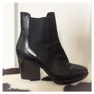 Dries van Noten Ankle Leather Black Boots