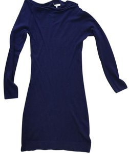 Patrizia Pepe short dress NAVY Cashmere Cotton Blue on Tradesy