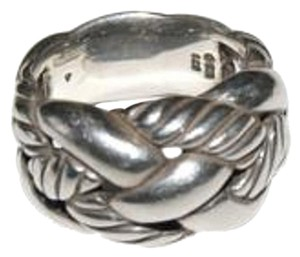 David Yurman David Yurman Sterling Silver 13mm Wide Woven Cable Ring