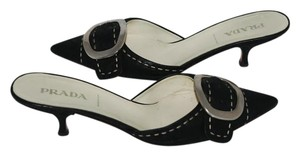 Prada Leather Italian black Mules