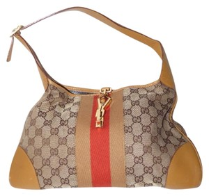Gucci Jackie Triangular Version Medium Size Excellent Vintage Great Everyday Hobo Bag