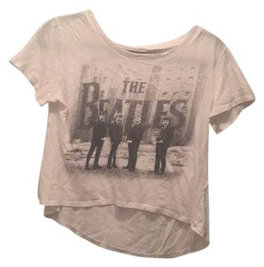 The Beatles Tee T Shirt White & Grey/Black
