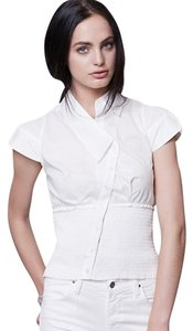Byron Lars Beauty Mark Fitted Top White