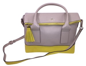Kate Spade Leather Tote in Yellow/Beige