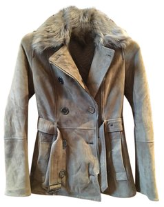 Burberry Brit Fur Lined Trench Coat