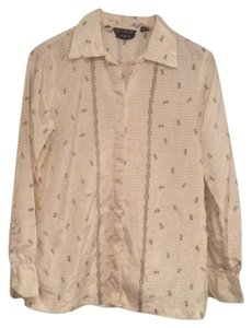 Givenchy Button Down Shirt Beige/black