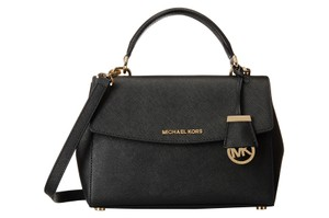 Michael Kors 30t5gavs2l Ava Small Saffiano Leather Satchel in Black