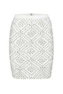 Aje Lombard Embellished Skirt White