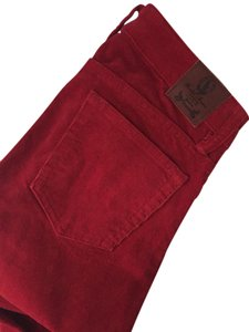 Ralph Lauren Corduroy Straight Pants Red