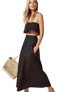 Black Maxi Dress by Reformation Two Piece