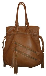 a.n.a. a new approach Leather Tassel Tote Hobo Bag