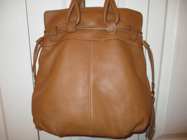 a.n.a. a new approach Shoulder Tan Leather with Vinyl Trim Hobo Bag a.n.a. a new approach Shoulder Tan Leather with Vinyl Trim Hobo Bag Image 7