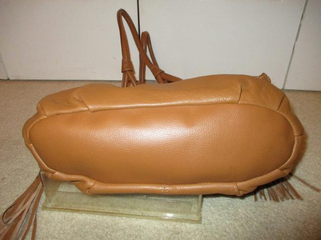 a.n.a. a new approach Shoulder Tan Leather with Vinyl Trim Hobo Bag a.n.a. a new approach Shoulder Tan Leather with Vinyl Trim Hobo Bag Image 10