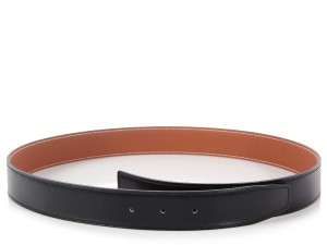 Hermès Black and Gold Belt Strap