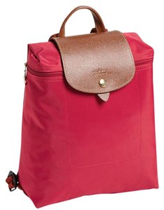 Longchamp Red Nylon Le Pliage Backpack