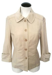 David Meister Button Down Shirt Khaki- Beige