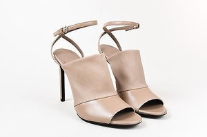 Vince Leather Ankle Taupe Sandals