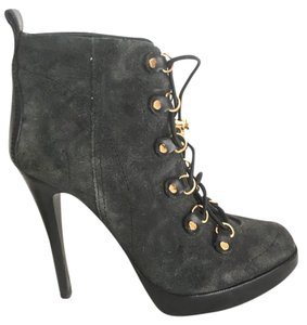 Tory Burch Leather Suede Black & Grey Boots