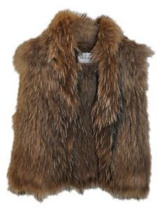 Yves Salomon Raccoon Fur Natural Fur Vest