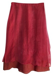 dosa Silk Skirt Bright Pink/Orange