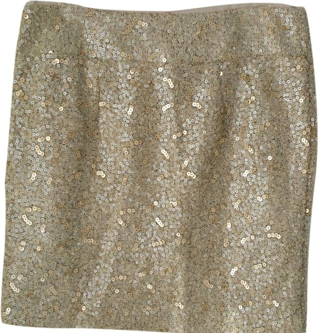 Banana Republic Sequin Mini Size 6 Mini Skirt Gold