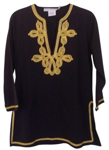 Gretchen Scott Top Black and Gold
