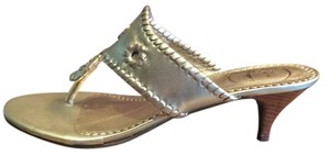 Jack Rogers Heels Southwest Platinum Gold Sandals