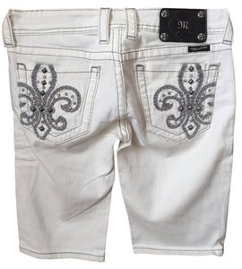 Miss Me Crystal Embellished Capri/Cropped Denim